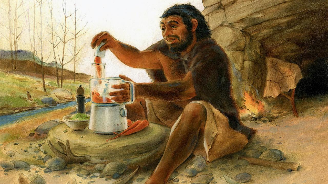 Caveman Meat : Image gallery neanderthal eating
